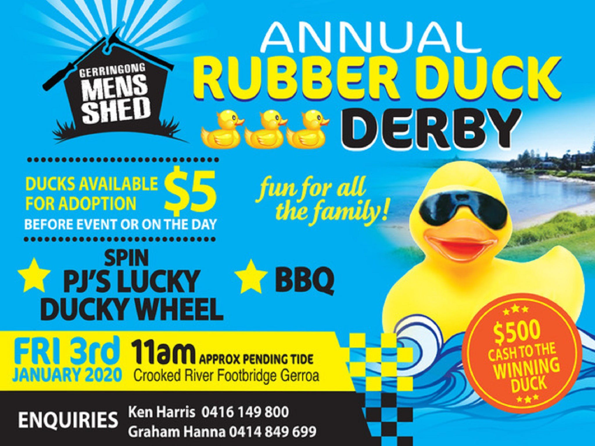Gerringong Mens Shed Annual Duck Derby - Accommodation Port Macquarie