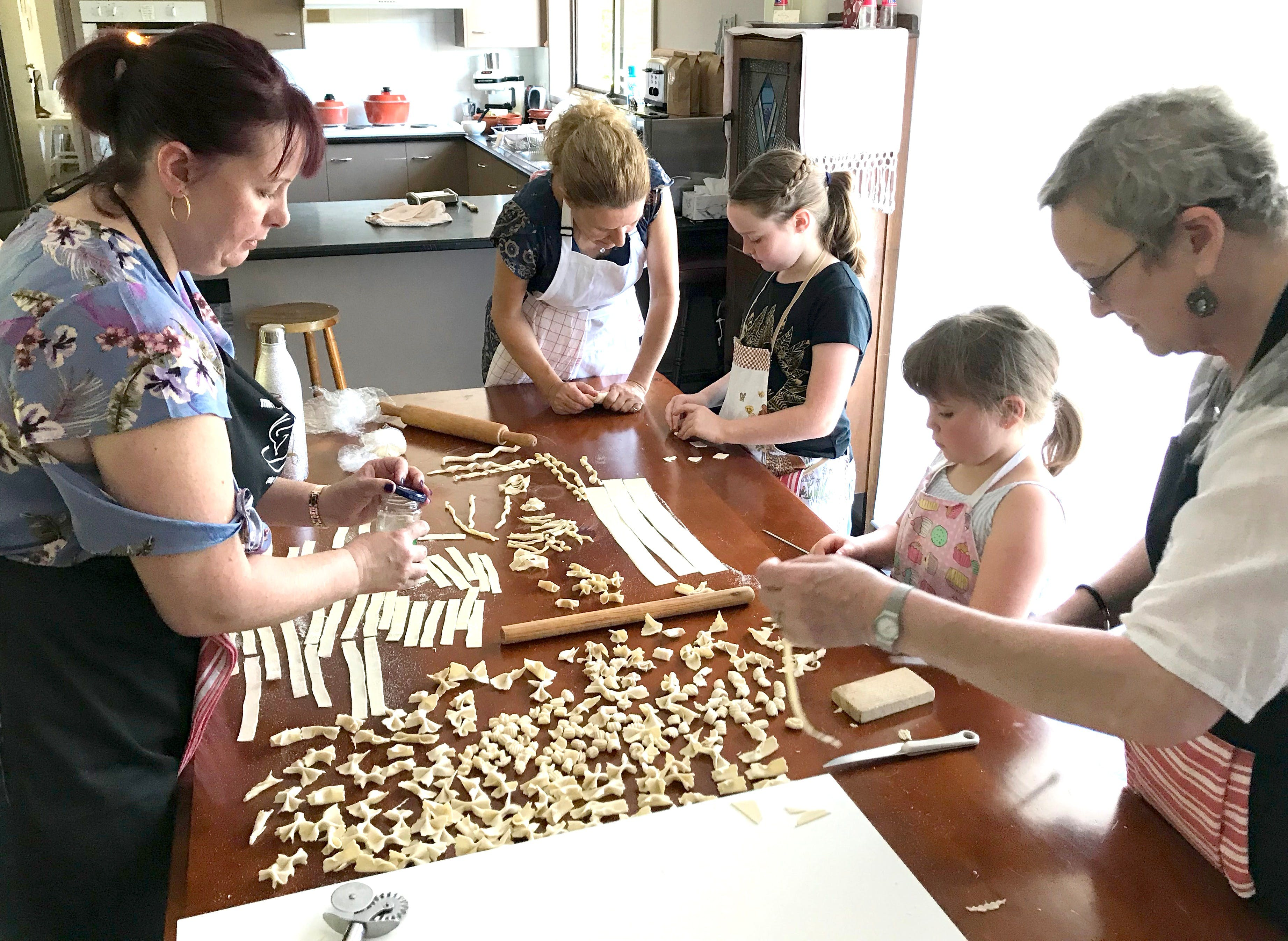 Kids Pasta Making Class - hands on fun at your house - Accommodation Port Macquarie