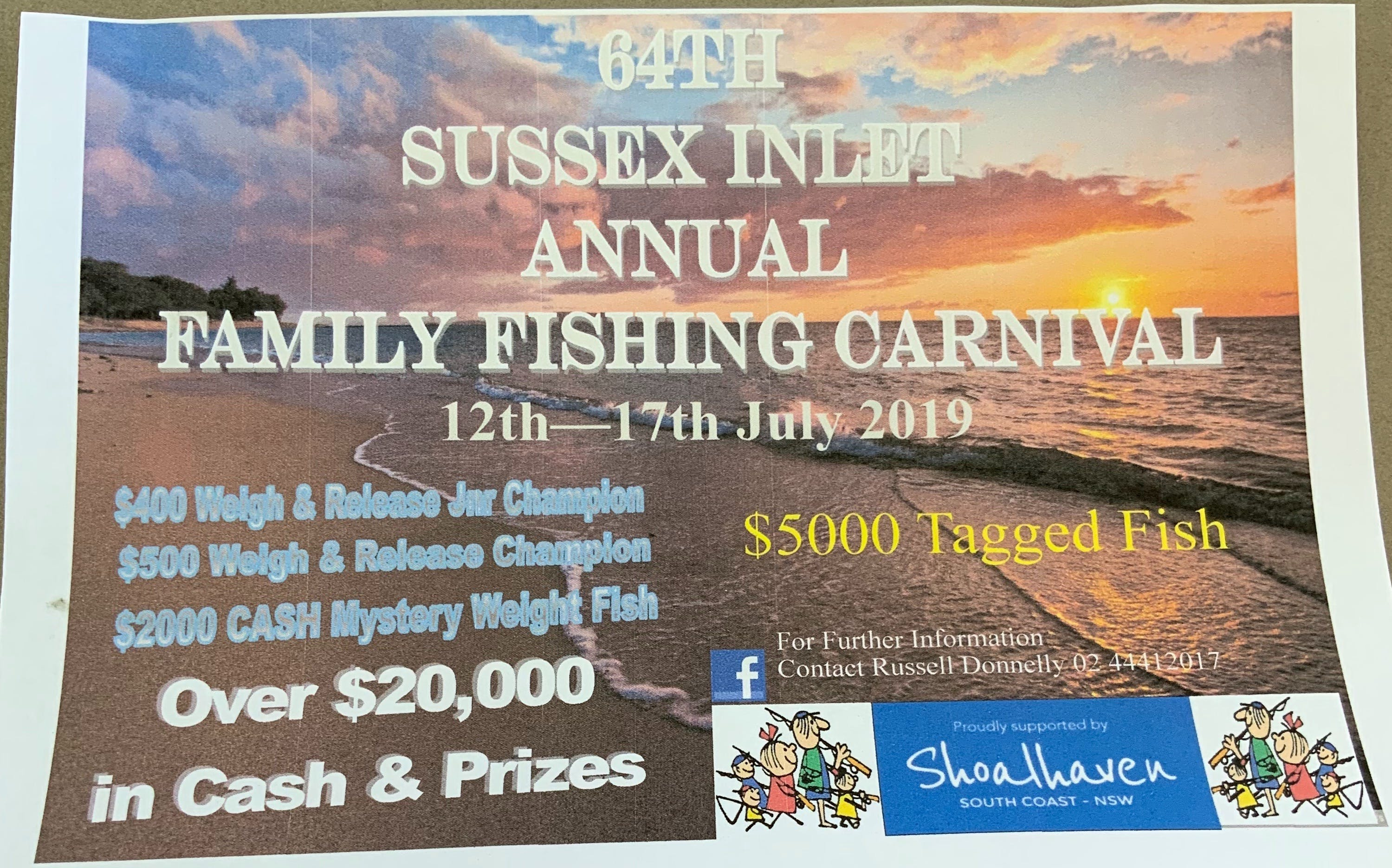 The Sussex Inlet Annual Family Fishing Carnival - Accommodation Port Macquarie