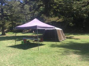Basin Ku-ring-gai Campsite Set Up - Accommodation Port Macquarie